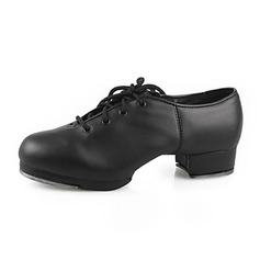 Women's Men's Unisex Leatherette Heels Tap Dance Shoes
