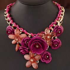 Elegant Alloy/Acrylic Ladies' Necklaces