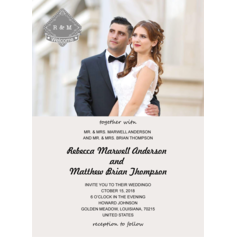 Classic Style/Photo Flat Card Invitation Cards