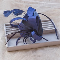 Elegant Feather/Satin Headbands