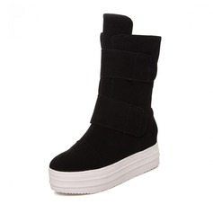 Women's Suede Wedge Heel Boots Ankle Boots shoes