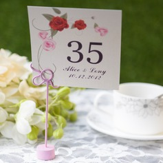 Personalized Lovely Rose Card Paper Table Number Cards (Set of 10)