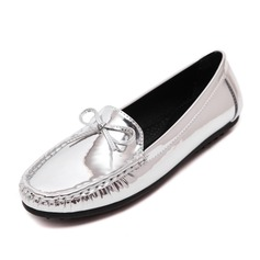 Women's Leatherette Flat Heel Flats Closed Toe shoes (086092685)