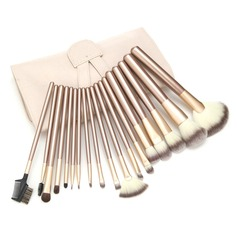 Top Three-color Nylon Hair Cosmetic Brush Set (18 pcs)