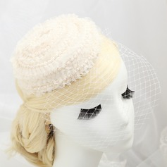 Eye-catching Imitation Pearls/Lace/Net Fascinators