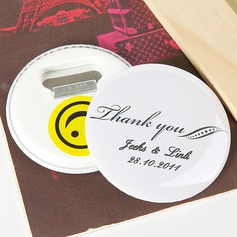 "Personalized ""Thank You"" Plastic Bottle Opener/Fridge Magnet"