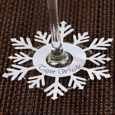 Snowflake Pearl Paper Place Cards  (131049968)