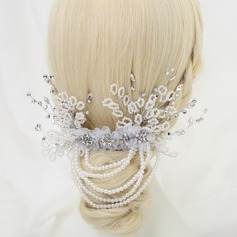 Glamourous Rhinestone/Alloy/Imitation Pearls/Tulle Combs & Barrettes
