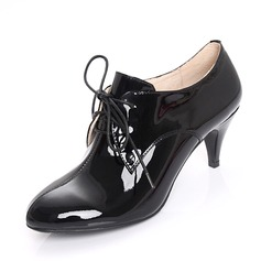 Patent Leather Kitten Heel Closed Toe Ankle Boots shoes