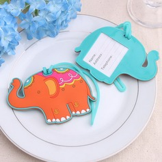 Lovely Elephant Plastic Luggage Tags