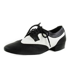 Men's Kids' Real Leather Flats Modern Ballroom Dance Shoes