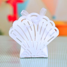 Sweet Scalloped Other Favor Boxes With Ribbons (Set of 12)