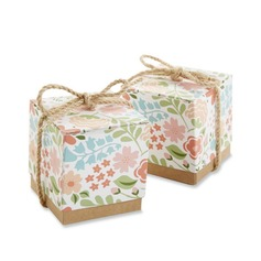Smiling Flower Cubic Favor Boxes