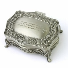 Personalized Floral Design Tins Jewelry Holders