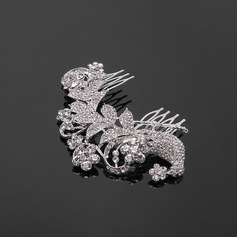 Hairpins Wedding Special Occasion Casual outdoor Rhinestone Silver Headpieces With Clear (042017892)
