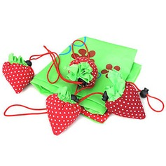 Collapsible Strawberry Shopping Bag