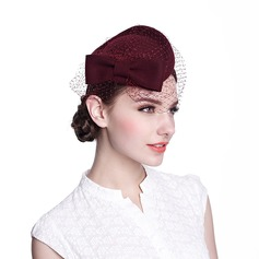 Ladies' Glamourous Spring/Autumn/Winter Wool With Fascinators