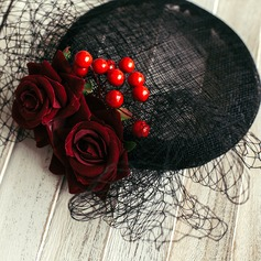 Ladies' Charming Cambric With Imitation Pearls/Flower Fascinators