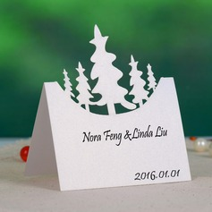 Nice Tree Design Pearl Paper Place Cards