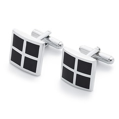 Simple Square Zinc Alloy Cufflink