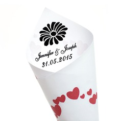 Personalized Heart design Paper Petal Cones