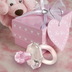 Crystal Pacifier Keepsake With Ribbons/Tag