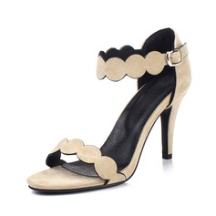 Women's Real Leather Stiletto Heel Sandals Pumps Peep Toe shoes