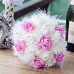 Sweet Round PE Bridal Bouquets (123069704)