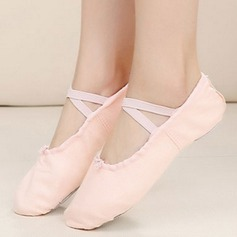 Women's Cloth Flats Pumps Ballet Practice Dance Shoes