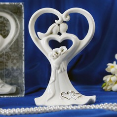 Bond in Heart Ceramic Wedding Cake Topper