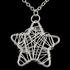 Star Shaped Silver Plated Women's Fashion Necklace