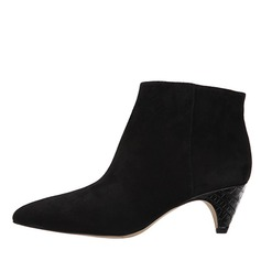 Women's Velvet Chunky Heel Boots Ankle Boots shoes
