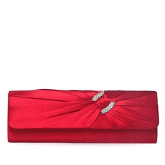 Gorgeous Silk With Rhinestone Clutches