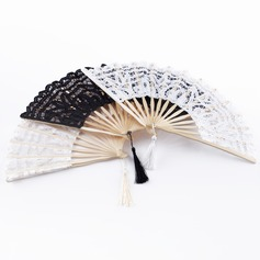 Flower Design Sandalwood/Cotton Hand fan