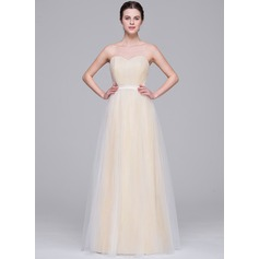 A-Line/Princess Sweetheart Floor-Length Tulle Wedding Dress With Ruffle