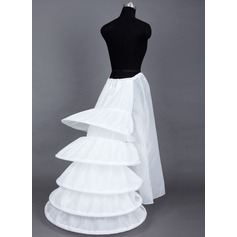 Women Taffeta Floor-length 1 Tiers Bustle