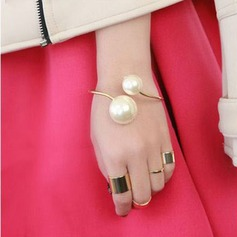 Fancy Alloy With Imitation Pearls Ladies' Bracelets