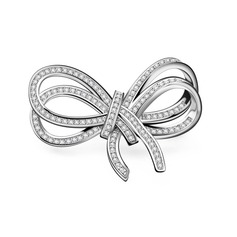 Bowknot Copper/Zircon/Platinum Plated Ladies' Body Jewelry