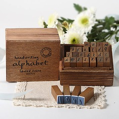 Handwriting Alphabet Wooden Stampers