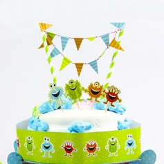 Little Monster Paper Cake Topper