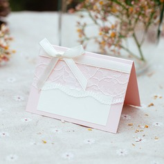 Rectangular Card Paper Table Number Cards With Ribbons