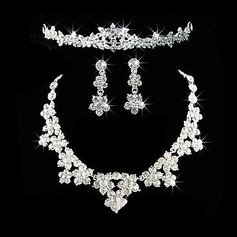 Gorgeous Alloy With Rhinestone Ladies' Jewelry Sets