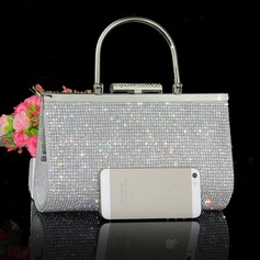 Charming Polyester/Rhinestone Clutches/Wristlets