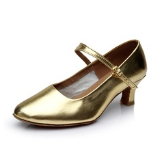 Women's Kids' Leatherette Heels Pumps Modern With Buckle Dance Shoes