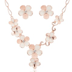Flower Shaped Alloy Women's/Ladies' Jewelry Sets
