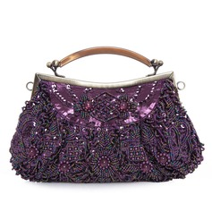 Unique Satin With Beading/Sequin Clutches/Top Handle Bags