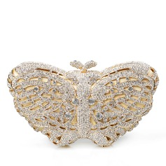 Dreamlike Crystal/ Rhinestone/Gold Plated Clutches/Bridal Purse