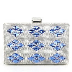 Unique Metal With Crystal/ Rhinestone Clutches