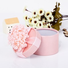 Lovely Cylinder Favor Boxes With Flowers  (050039696)
