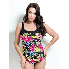 Beautiful Floral Solid Color One-piece